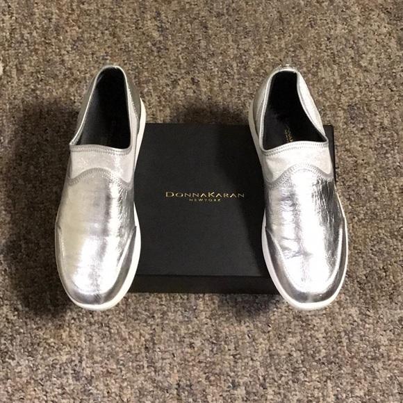 81cd3d20063 Silver sneakers. NWT. Donna Karan